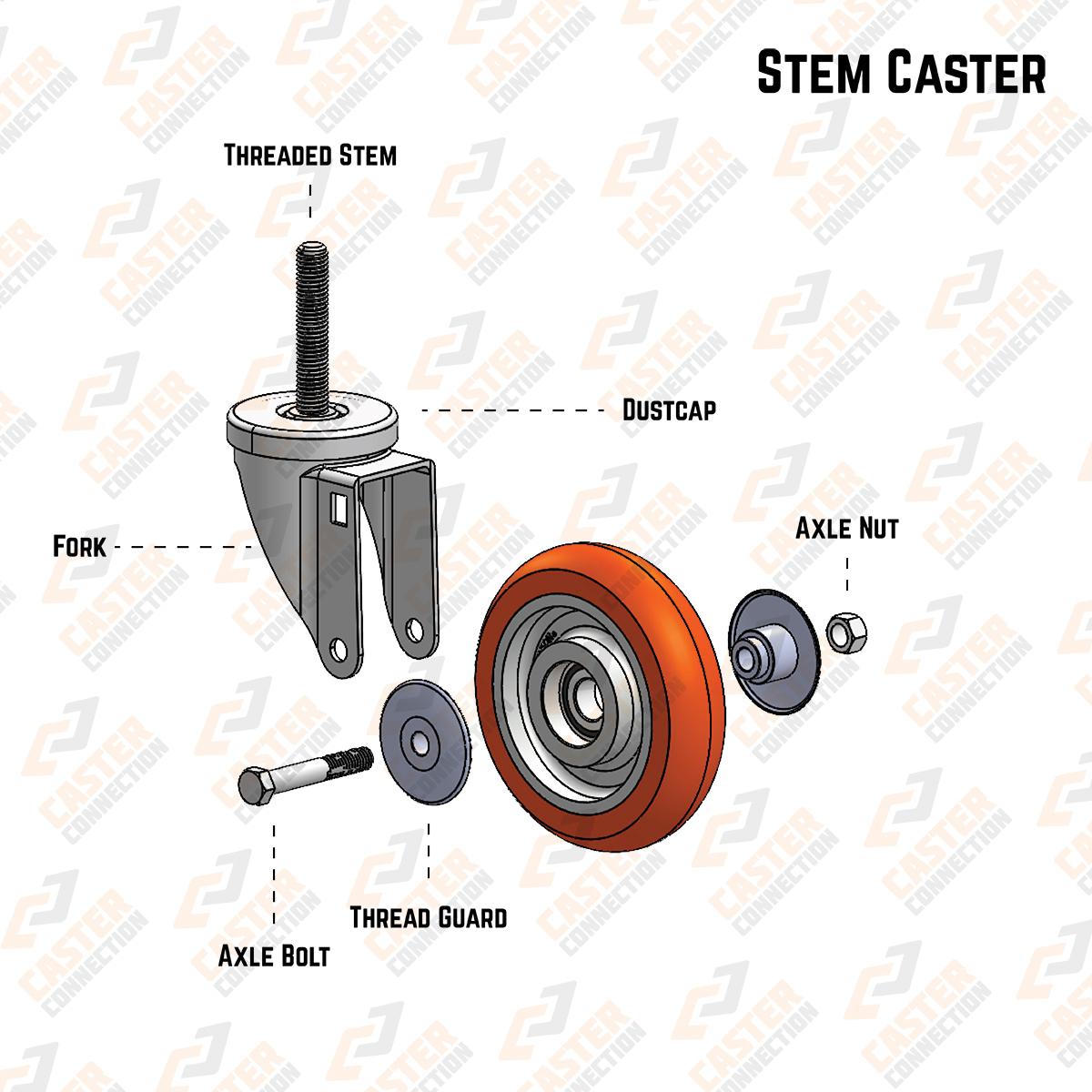 Stem Caster Component Anatomy