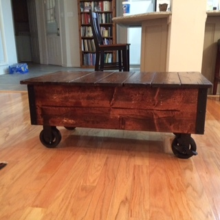 DIY Coffee Table with Casters