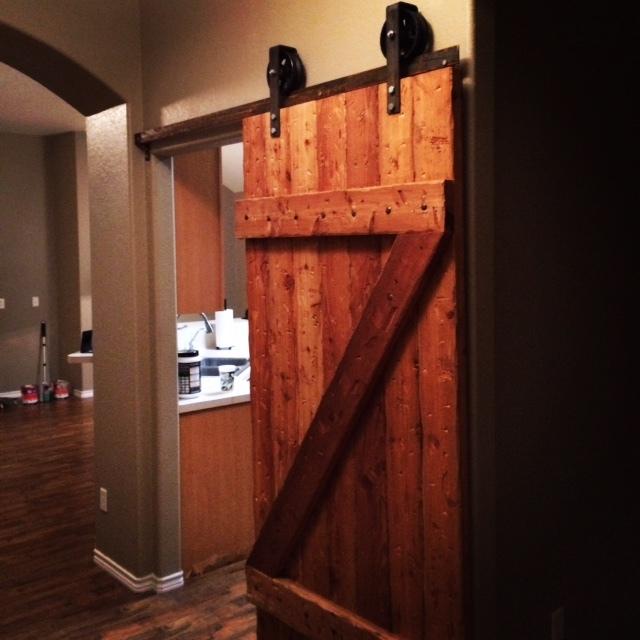 Sliding Barn Door with Casters