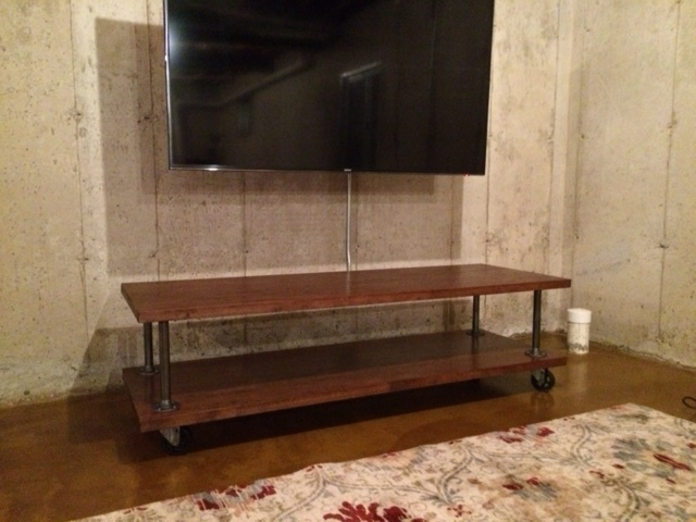Custom TV Stand With Casters
