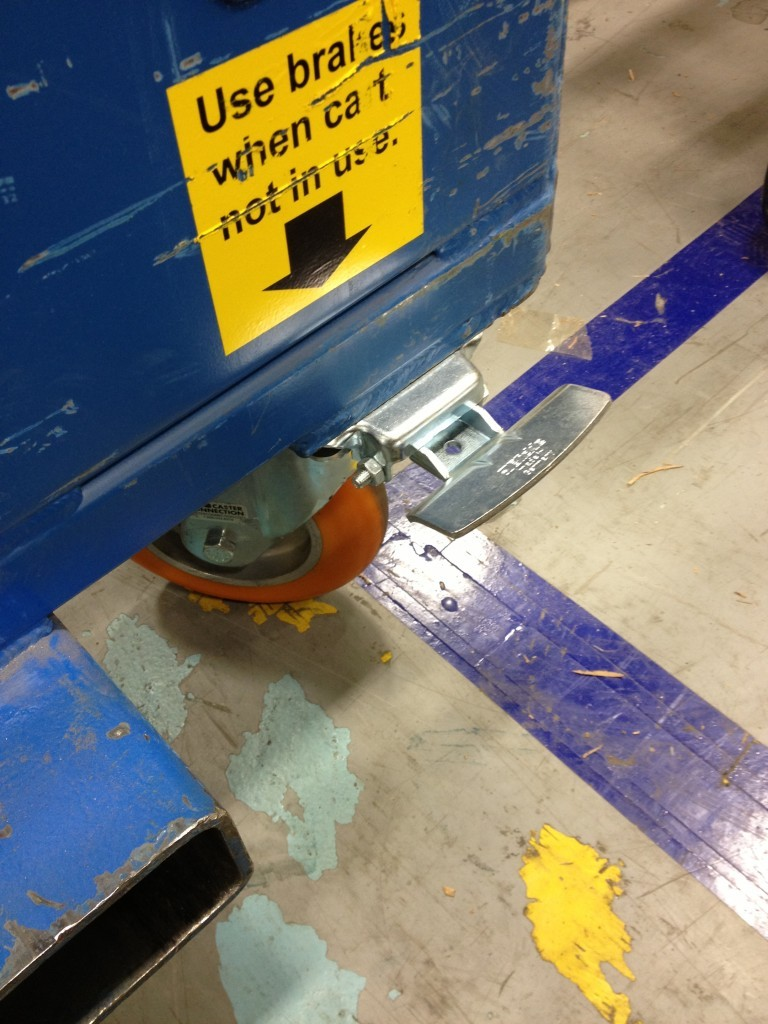 Blickle Ideal Stop on Cart - Replaces Floor Locks