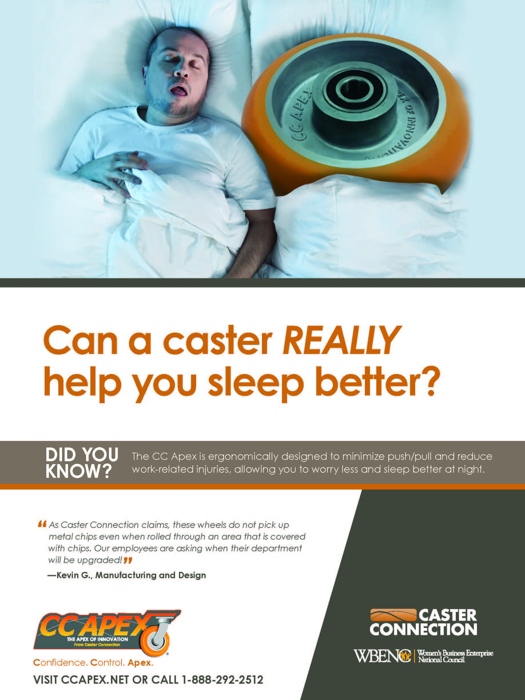 Can a caster really help you sleep better?