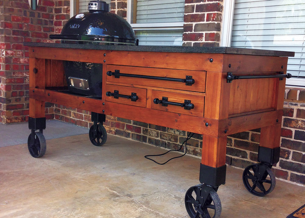 BBQ-Unit-Rolling-On-Vintage-Casters