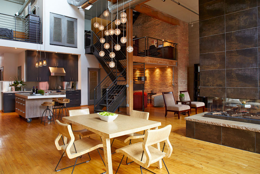 Downtown-Industrial-Loft-With-Kitchen-Island-On-Casters