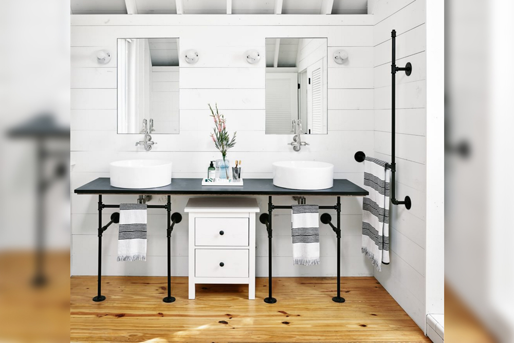 Farmhouse-Mid-Sized-Restroom-With-Pipes