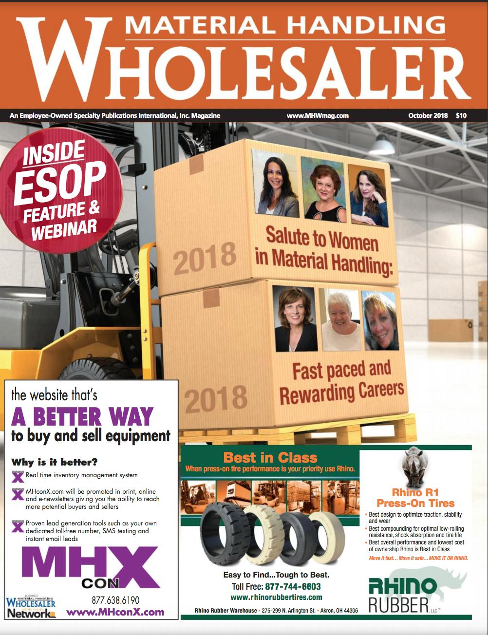 MH Wholesaler Salute to Women in Material Handling Sept 2018 Sally Hughes
