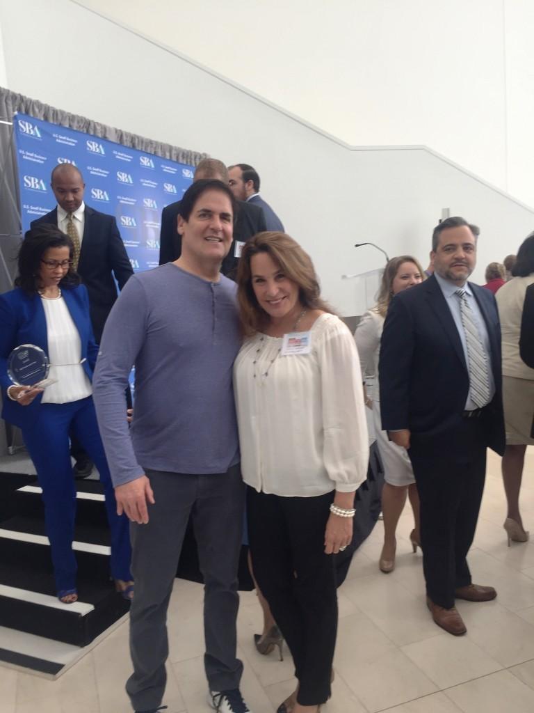 Sally-Hughes-Mark-Cuban-2016-SBA-Person-of-the-Year-Awards-May-2016-768x1024
