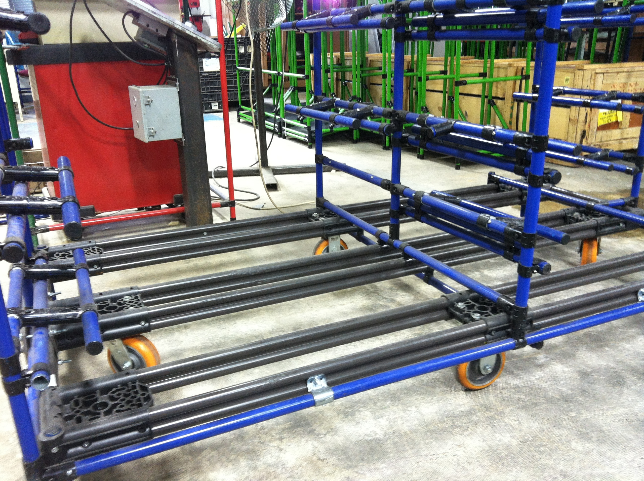 Seat Manufacturer Cart with CC Apex Casters