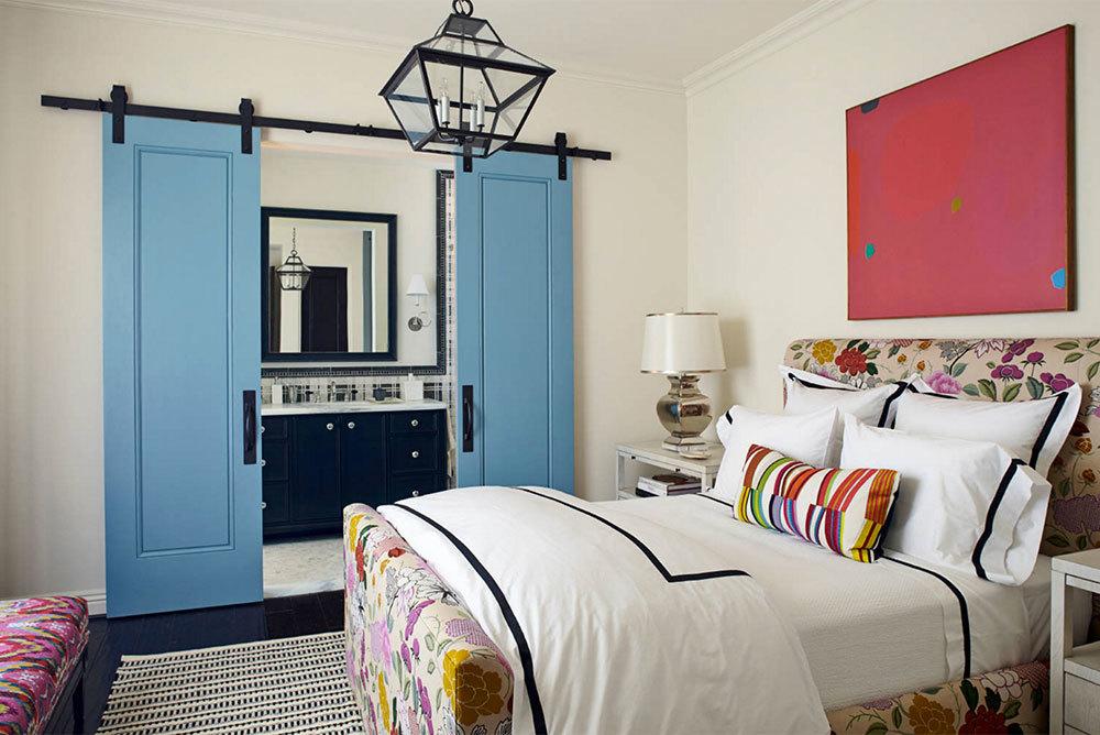 Sky-Blue-Single-Paneled-Bi-Parting-Barn-Doors