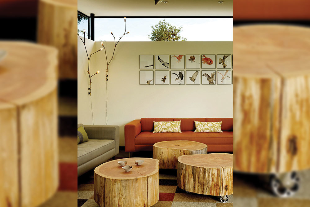 Tree-Stump-Coffee-Tables-With-Casters