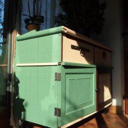 CC Vintage Casters Kitchen Cabinet