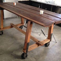 CC Vintage Casters Long Dinner Table