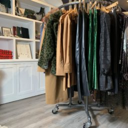 SQ FS Retail Industrial Pipe Garment Rack 3 Inch Vintage Polyurethane Tread Swivel Caster 5