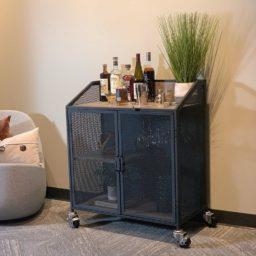 SQ Industrial Vintage Bar Cart Polyurethane Tread Swivel Caster 5