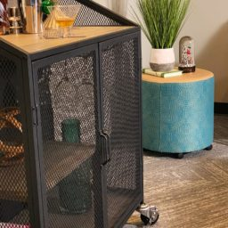 SQ Industrial Vintage Bar Cart Polyurethane Tread Swivel Caster 9