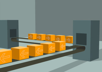Assembly line graphic