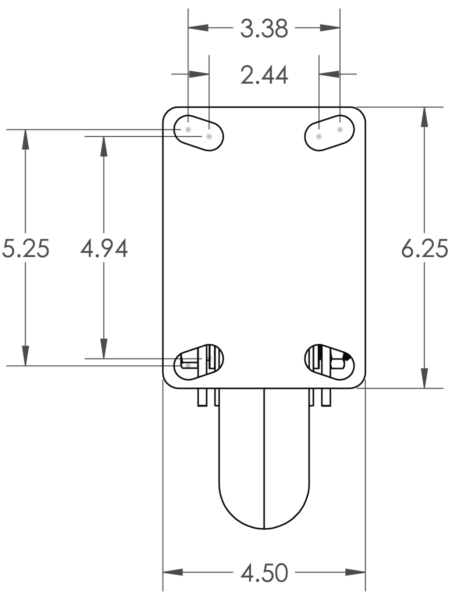 Top Plate 4 5 x 6 25