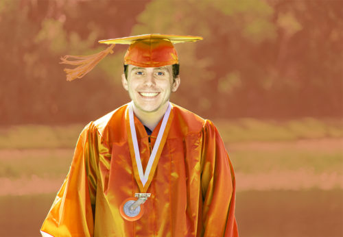 Caster Graduation Orange Austin