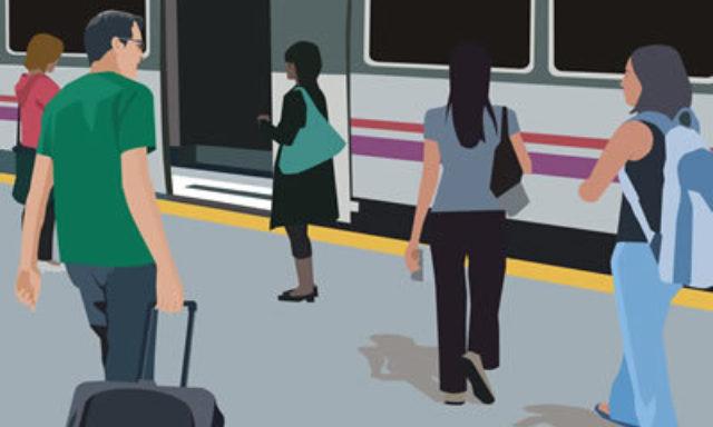 Graphic metro travelers