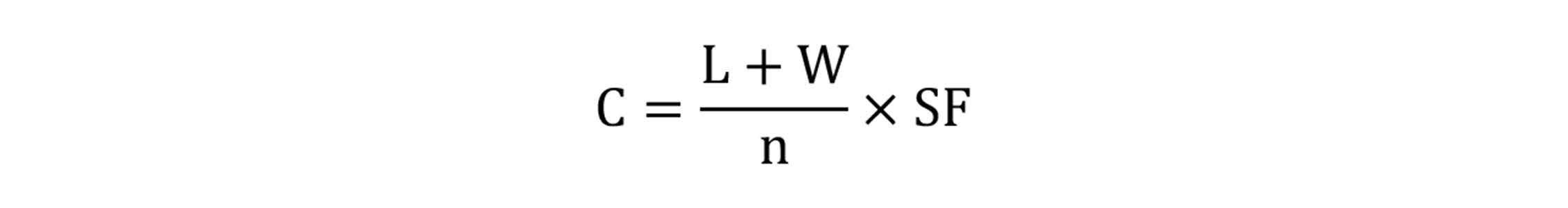 Caster Capacity Formula