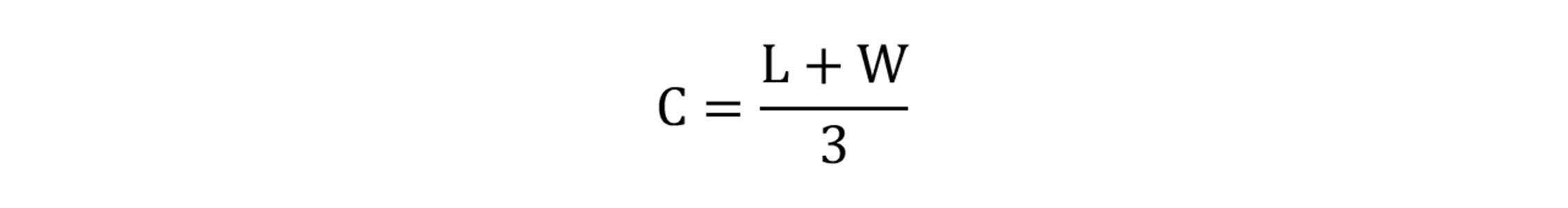 Caster Capacity Rule of 3 Formula