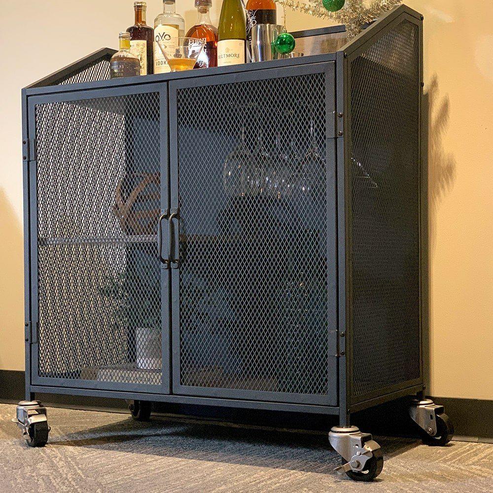 SQ Industrial Vintage Bar Cart Polyurethane Tread Swivel Caster 7