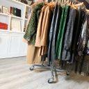 SQ FS Retail Industrial Pipe Garment Rack 3 Inch Vintage Polyurethane Tread Swivel Caster 4 Thumbnail