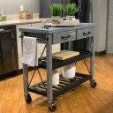 SQ Kitchen Cart Polyurethane Tread Swivel Caster 1 Thumbnail